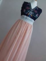 Šaty - Plesové folklórne maľované šaty - 9933931_