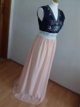 Šaty - Plesové folklórne maľované šaty - 9933934_
