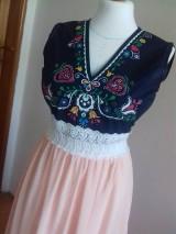 Šaty - Plesové folklórne maľované šaty - 9933940_