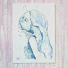 Obrazy - Vánok, akvarel výtlačok (print) - 9932958_