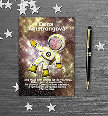 Papiernictvo - Školský zošit s vlastnou fotografiou a menom - kozmonaut - 9932244_
