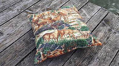 Úžitkový textil - Obliečky na vankuš s polovníckym motívom - 9934797_