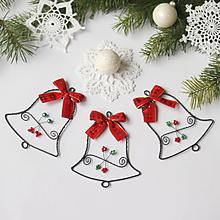 Dekorácie - vianočné zvončeky 10cm (Červená) - 9935798_