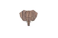 Odznaky/Brošne - Drevená brošňa Elephant Brooch - 9935369_