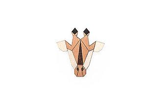 Odznaky/Brošne - Drevená brošňa Giraffe Brooch - 9935433_