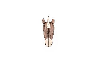 Odznaky/Brošne - Drevená brošňa Unicorn Brooch - 9935439_