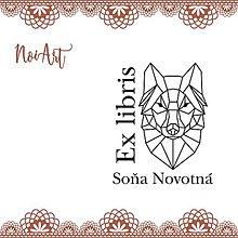 Nezaradené - Pečiatka EX LIBRIS vlk - 9934967_