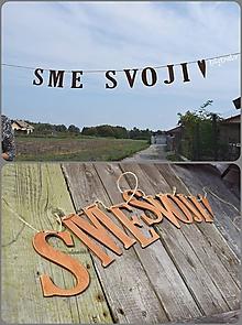 Dekorácie - girlanda SME SVOJI - 9935338_