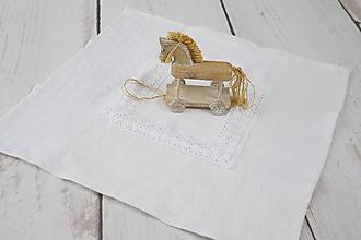 Úžitkový textil - Ľanový obrúsok 60*60cm - 9935178_