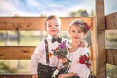 - Detská kvetinová čelenka červená  - 9937371_