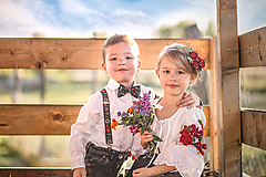 Ozdoby do vlasov - Detská kvetinová čelenka červená - 9937371_