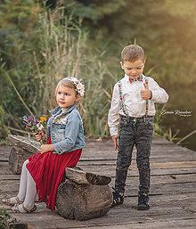 Ozdoby do vlasov - Detská kvetinová čelenka Biela - 9937539_