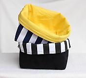 Košíky - Textilný úložný košík - 9936764_