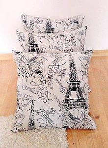 Úžitkový textil - vankúš Vintage Paris lila - 9936436_