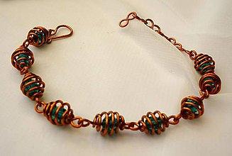 Sady šperkov - Medená šišková sada - 9938145_