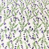 - akvarelová levanduľa; 100 % bavlna, šírka 140 cm - 9935493_