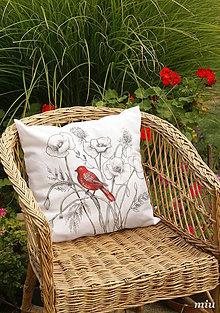Úžitkový textil - Maľovaný poťah na vankúš