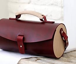 Kabelky - Kabelka na rameno DUFFLE BAG BORDEAUX - 9935504_