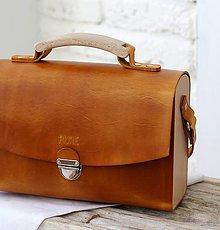Kabelky - Kabelka na rameno VANITY BAG GOLD BROWN - 9935652_