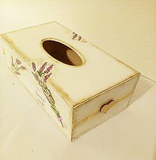 Krabičky - Zásobník na vreckovky - 9937690_