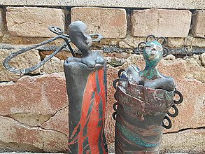 Socha - Keramika, Exotika.. - 9936528_