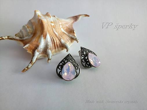 302f40b03 Romantické vintage náušnice Swarovski crystals slzy / VPsperky ...