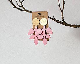 Náušnice - peračina v ružovej - 9936542_