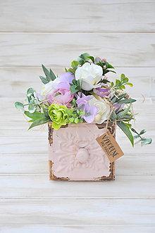 Dekorácie - celoročný dekorovaný šuflík, menší - 9936575_