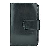 Peňaženky - Dámska praktická kožená peňaženka s bohatou výbavou, čierna farba - 9937275_