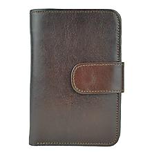 Peňaženky - Dámska praktická kožená peňaženka s bohatou výbavou, hnedá farba - 9937312_