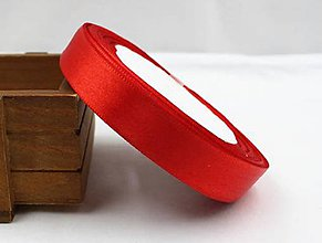 Galantéria - Saténová stuha 15 mm (cena za meter) (Červená) - 9937074_