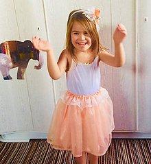Sukne - Tutu sukienka - detská (Tyrkysová) - 9938048_