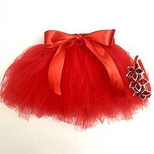 Detské oblečenie - Tutu sukňa červená 2-12 m - 9936833_