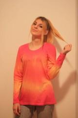Tričká - Veselé batikované tričko - 9938218_