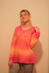 Tričká - Veselé batikované tričko - 9938233_