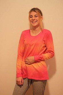 Tričká - Veselé batikované tričko veľkosť 42 XL - 9938235_