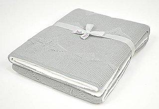 "Textil - Teplá detská deka""Hviezdička""-sivá,100x80cm,OEKO-TEX® - 9937034_"