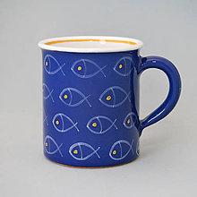 Nádoby - Hrnek rovný ryby 10 modrý 0,4 l - 9937136_
