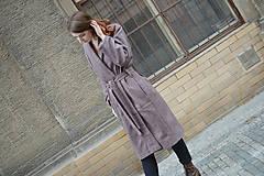 Kabáty - Oversize zavinovací kabát - 9935175_