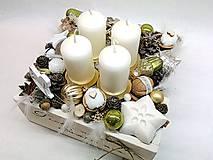 Dekorácie - Vintage adventná dekorácia zelená - 9937828_