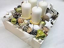 Dekorácie - Vintage adventná dekorácia zelená - 9937835_
