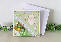 Papiernictvo - Pohľadnica Baby 04 - pre chlapca - 9938082_
