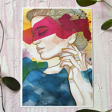 Obrazy - Jane, akvarel výtlačok (print) - 9936916_
