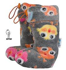 Topánočky - VÝPREDAJ - Topánočky s merino vlnou / teplý wellsoft - Vtáčiky, vel. 0 - ATYP - 9939101_