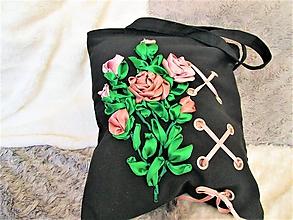 Veľké tašky - Púdrové ruže - 9938552_