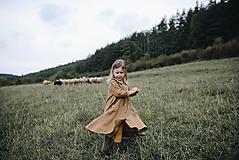 Detské oblečenie - Ľanový túlavý plášťokabát (Zelená) - 9940293_