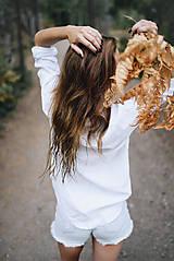 Košele - Simonka ľanová košeľa biela - 9940364_