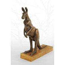 Socha - Kengura - klokan - bronzová socha - originál - 9940768_