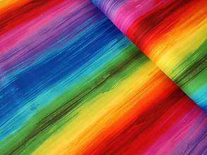 Textil - Dizajnová bavlna Awaken - Rainbow by Chong-a Hwang - 9938627_