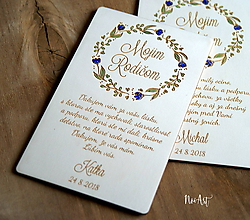 Darčeky pre svadobčanov - Poďakovanie rodičom 36 venček maľovaný - 9938661_